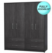 Kavarna 4 Door 4 Drawer Wardrobe