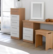 Theydon White and Oak Dressing Table