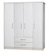 Hulsen 4 Door Single Combi Wardrobe