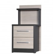 Kavarna 2 Drawer Bedside with Back Panel