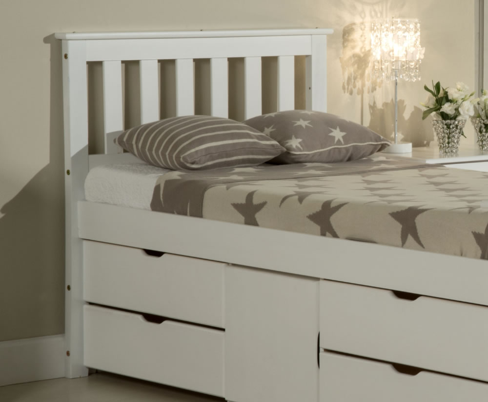 Tulcan Whitewash Pine Storage Bed