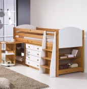 Aurora Pine Mid Sleeper Bunk Bed
