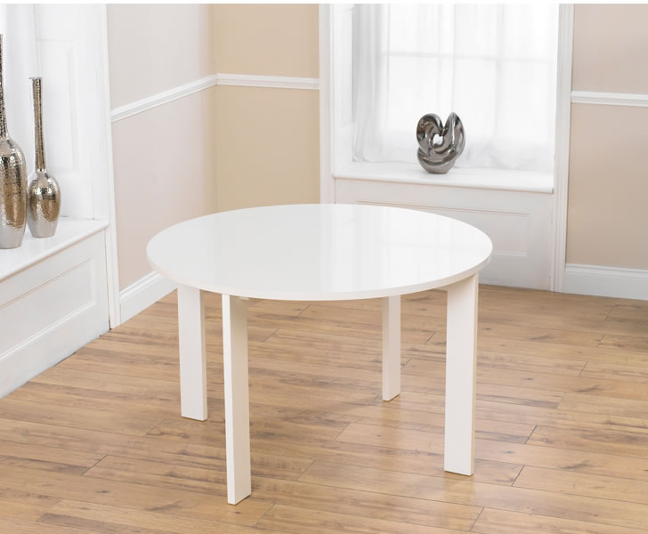 Newton White High Gloss Round Dining Table UK Delivery