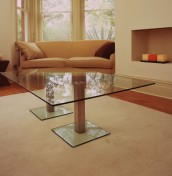 Duo Glass and Steel Coffee Table