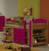 Terri Pine Mid Sleeper Bunk Bed