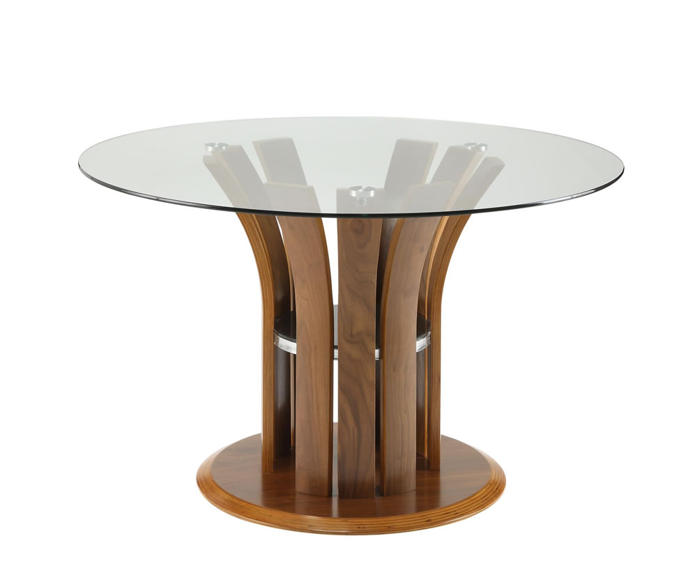 lentini walnut and glass dining table. Black Bedroom Furniture Sets. Home Design Ideas