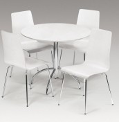 Mandy White Kitchen Table and Chairs