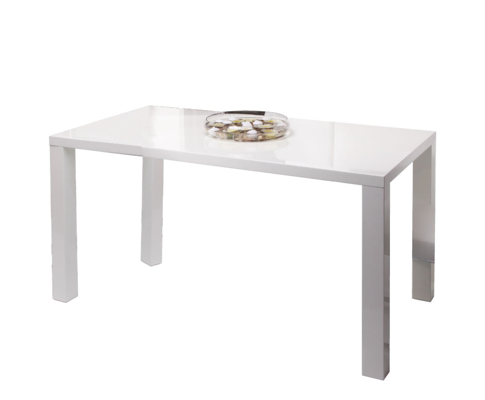 Nikita white high gloss dining table for White high gloss dining table