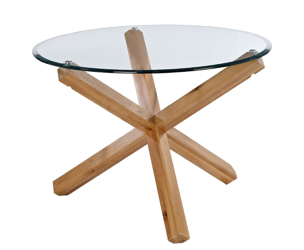 Ophelia round glass dining table for Glass dining table