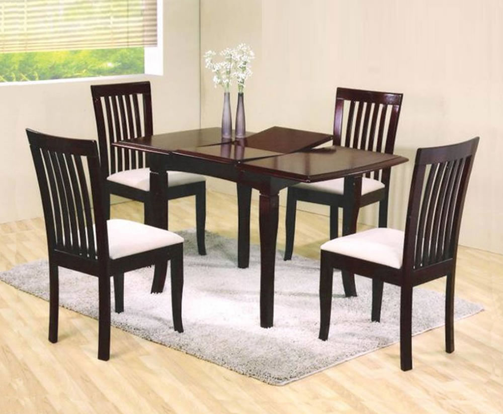 Burwell Mahogany Extending Dining Table And Chairs