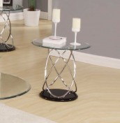 Askella Clear Glass Lamp Table