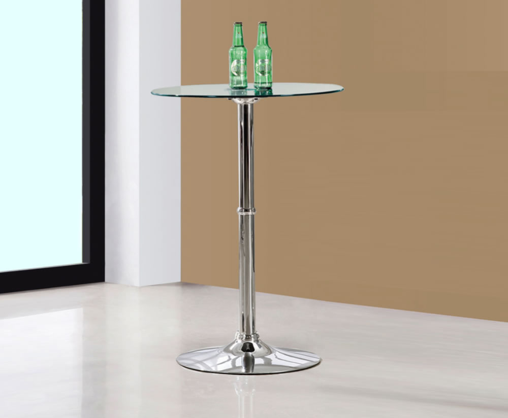 Adachi Clear Glass Bar Table Uk Delivery