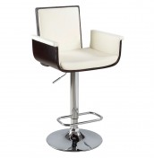 Cavadore Cream Gas Lift Bar Stool