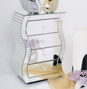 Chaumont Mirrored Bedside Chest