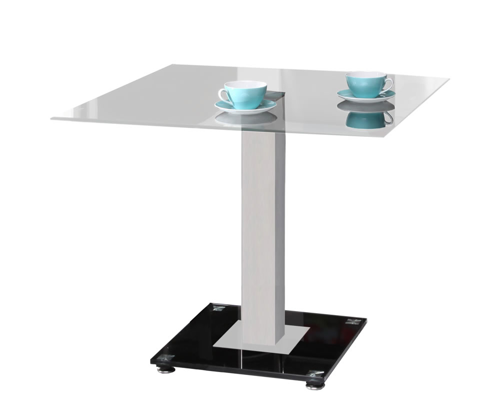 martina square clear glass kitchen table