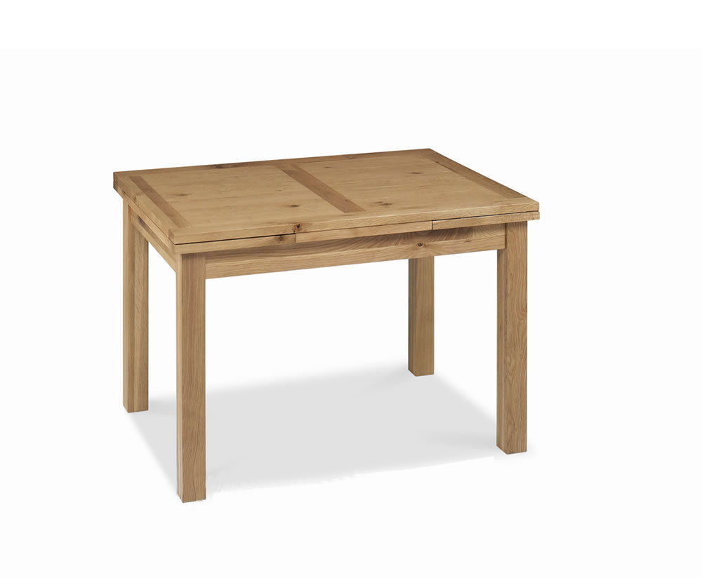 Provence oak small extending dining table uk delivery for Low dining table