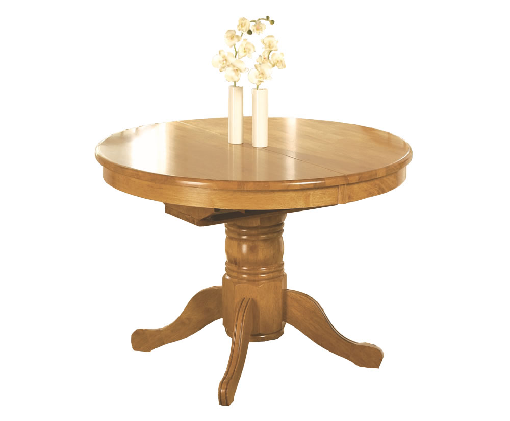 Worcester round extending dining table for Circular dining table