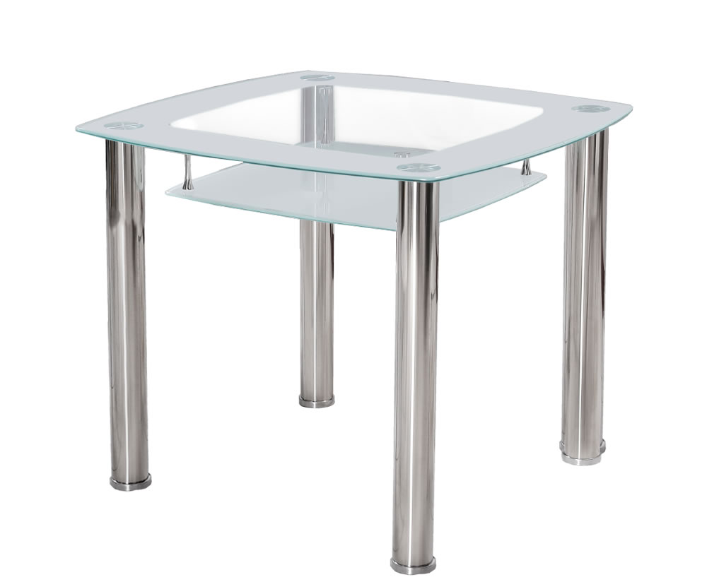 Palermo white glass kitchen table uk delivery for Kitchen table only