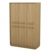Sullivan Oak 3 Door Wardrobe
