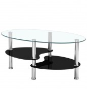 Brazil Black Glass Coffee Table