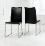 Newton Black PU Leather Dining Chair *Special Offer*