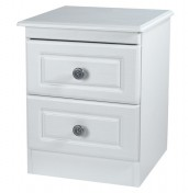 Snowdon White 2 Drawer Bedside Chest *Special Offer*