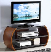Zennor Curved Walnut and Glass TV Stand *Special Offer*