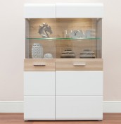 Vancouver White High Gloss Low Display Unit