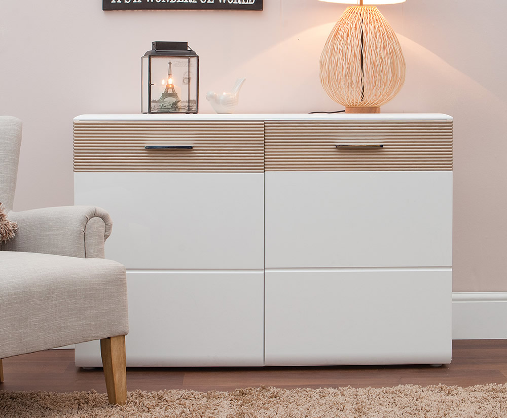 Vancouver White High Gloss Small Sideboard