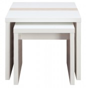 Vancouver White High Gloss Nest of Tables