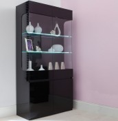 Montreal Black High Gloss Two Door Display Unit