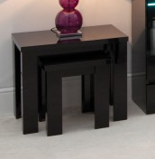 Montreal Black High Gloss Nest of Tables