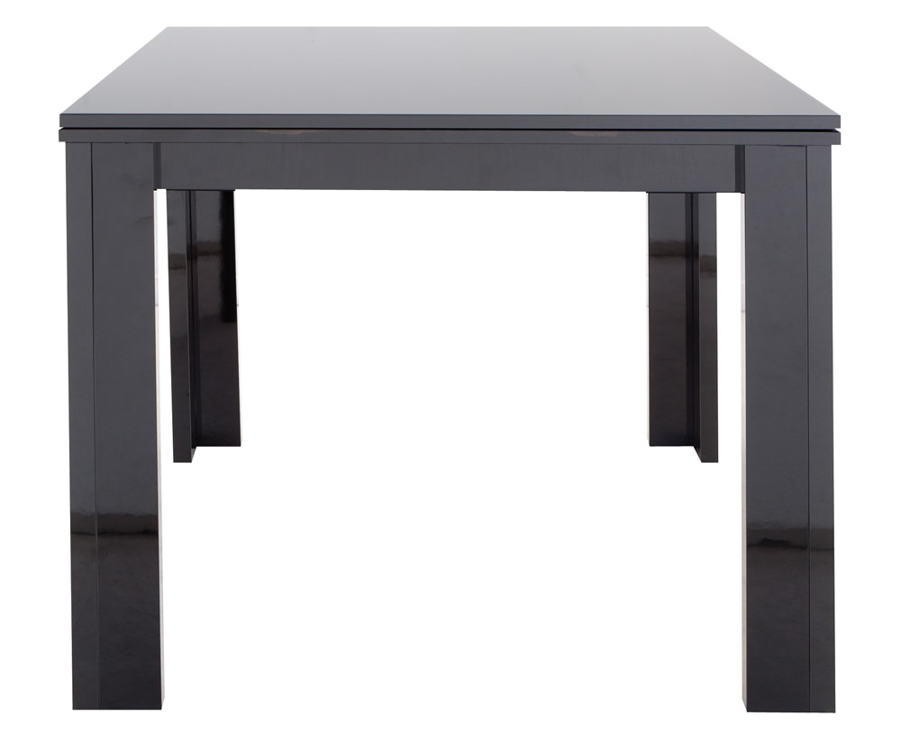 montreal black high gloss flip top dining table and chairs