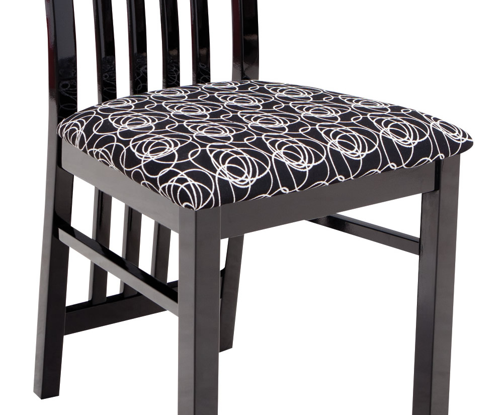 Montreal black high gloss flip top dining table and chairs for High chair dining table set