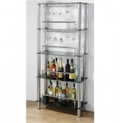Chablis Small Wine Bar Glass Shelf Unit