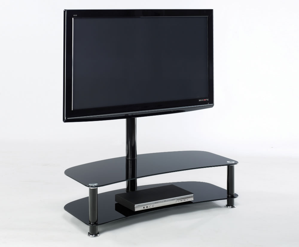 Medina Black Glass Tv Stand