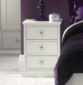 Ashby Cotton 3 Drawer Bedside Chest