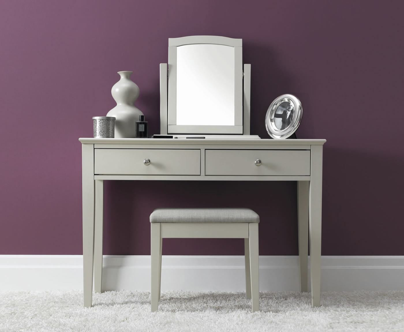 Ashby cotton dressing table for Vanity dressing table