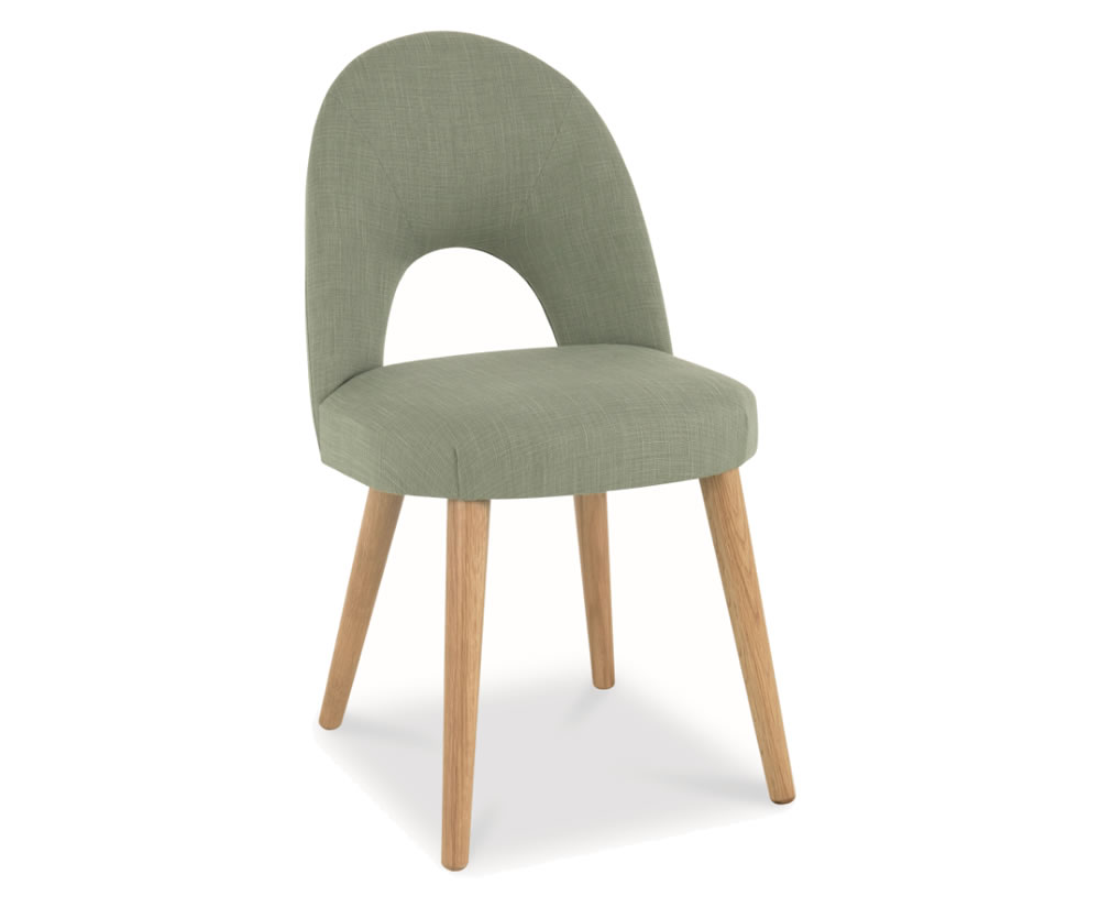 Orbit aqua green upholstered dining chair for Upholstered dining chairs