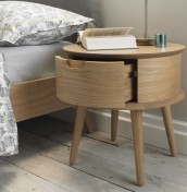 Orbit Oak Nightstand