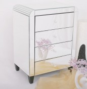 Berovo Mirrored Bedside Chest *Special Offer*