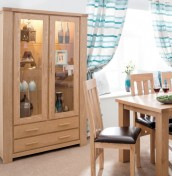 Hampton Ash 2 Door Display Unit