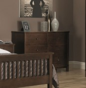Atlanta Dark 6 Drawer Wide Chest