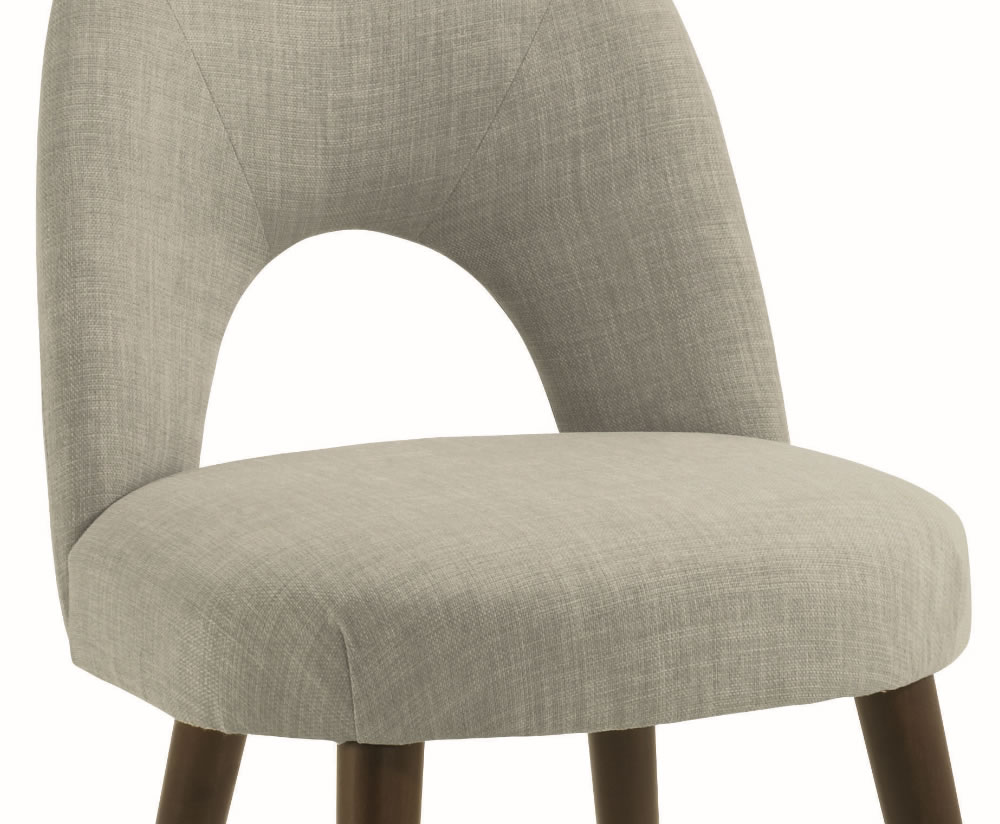 Oslo linen upholstered dining chair sold individually for Upholstered linen dining chairs
