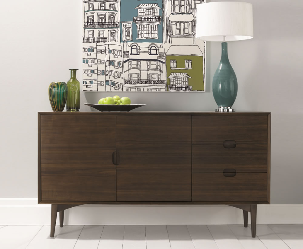oslo walnut sideboard rh franceshunt co uk decorate sideboard dining room decorate sideboard dining room
