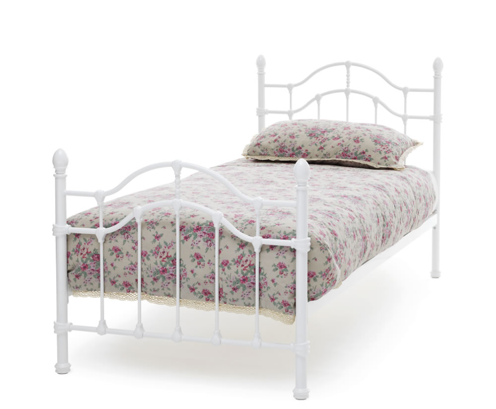 Paris White Metal Bed Frame Frances Hunt
