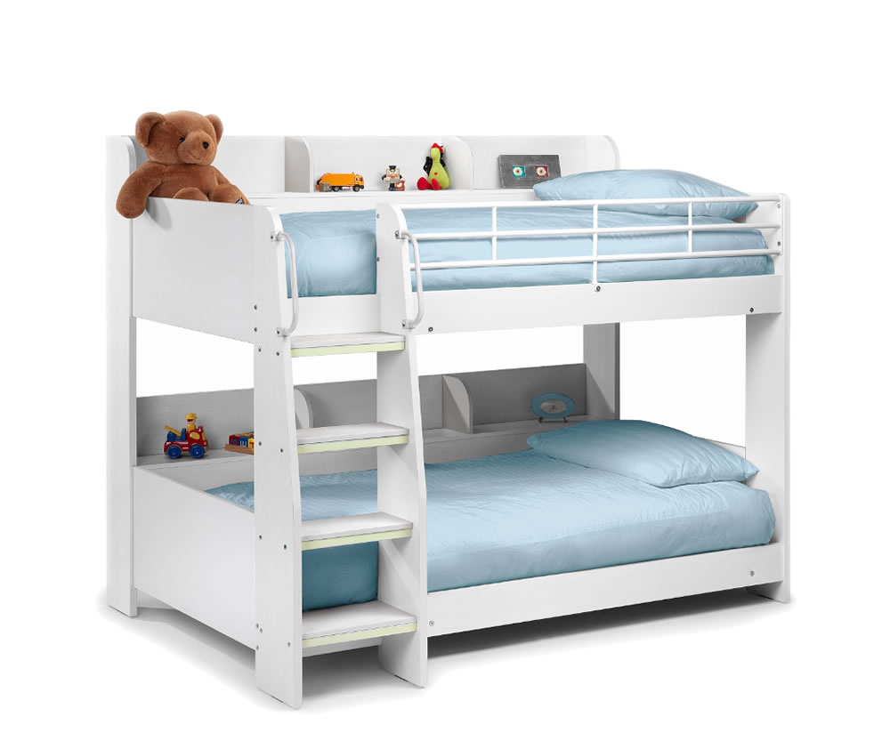 darci kids white bunk bed. Black Bedroom Furniture Sets. Home Design Ideas