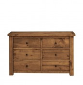 Augusta Honey Pine 6 Drawer Wide Chest