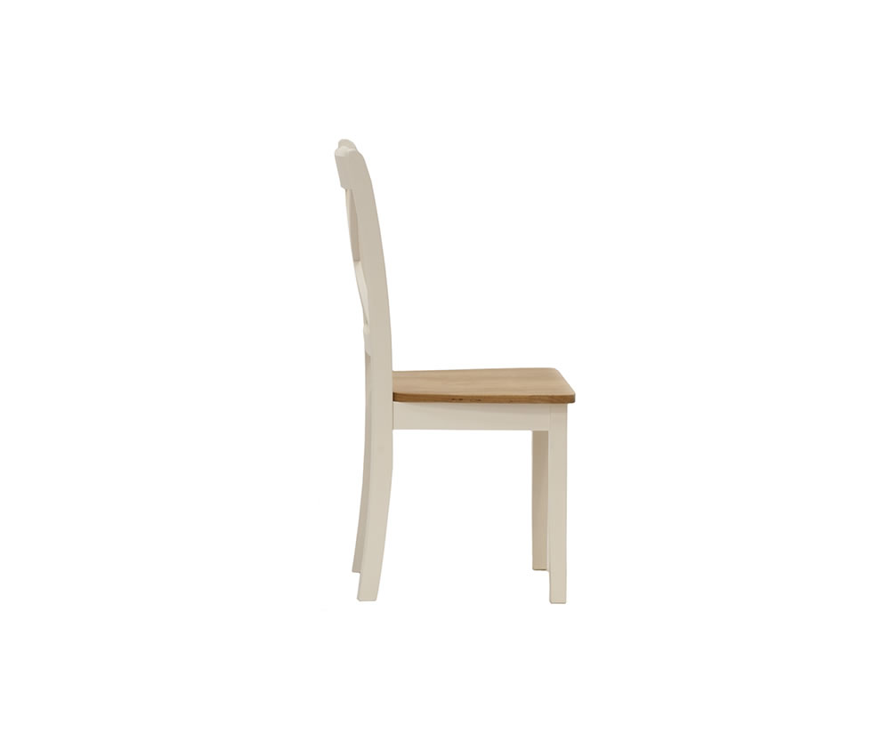 Dover Ivory And Maple Dining Chair