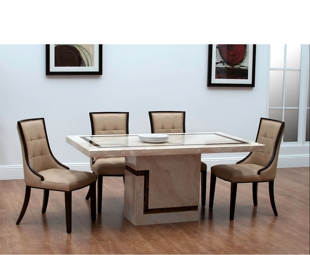 Horsham marble dining table and chairs for Dining table table and chairs